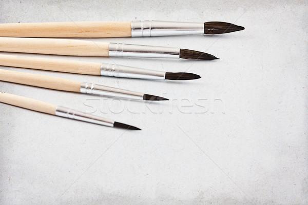 Paint brushes Stock photo © grafvision
