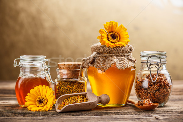 Product honing stuifmeel propolis bloem voedsel Stockfoto © grafvision