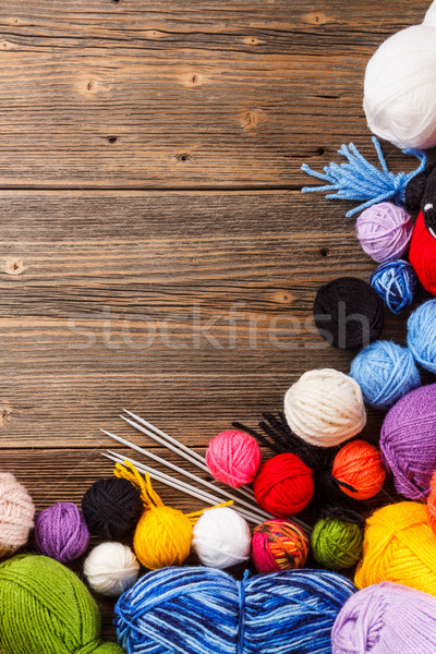 Color woolen clews Stock photo © grafvision