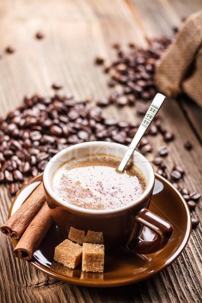 Сток-фото: Кубок · чашку · кофе · кофе · корицей · кофе · вокруг