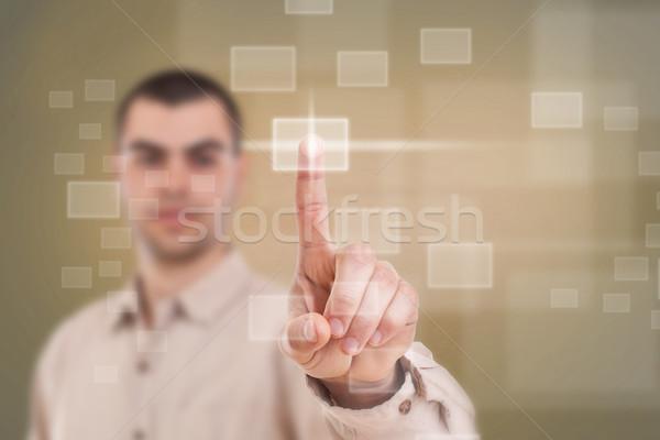 Yüksek teknoloji işadamı tip modern Stok fotoğraf © grafvision