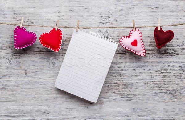 Felt handmade hearts Stock photo © grafvision