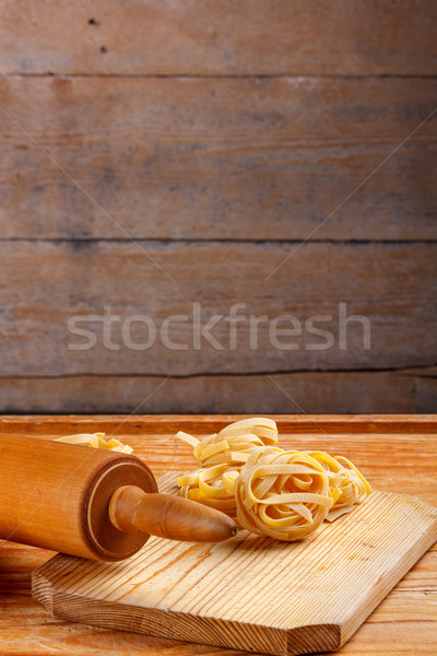 Pasta tagliatelle Stock photo © grafvision