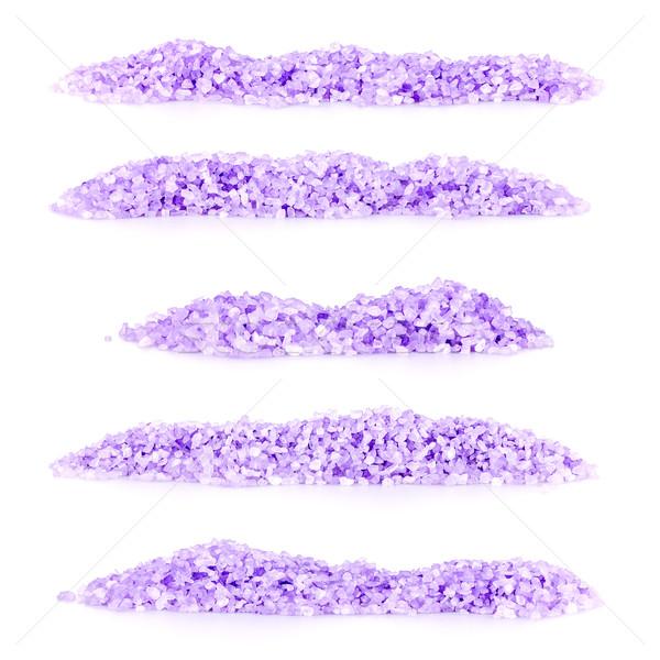 Levendula fürdősó szett köteg fehér tenger Stock fotó © grafvision