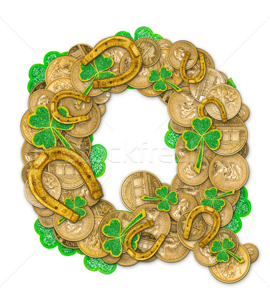 St. Patricks Day holiday letter Q Stock photo © grafvision