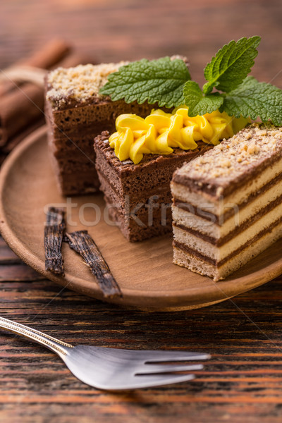 Layered mini coffee cakes  Stock photo © grafvision