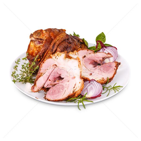 Fumado picante branco prato comida carne Foto stock © grafvision