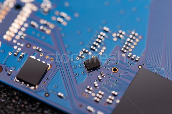 Számítástechnika mikrocsip integrált alaplap számítógép absztrakt Stock fotó © grafvision