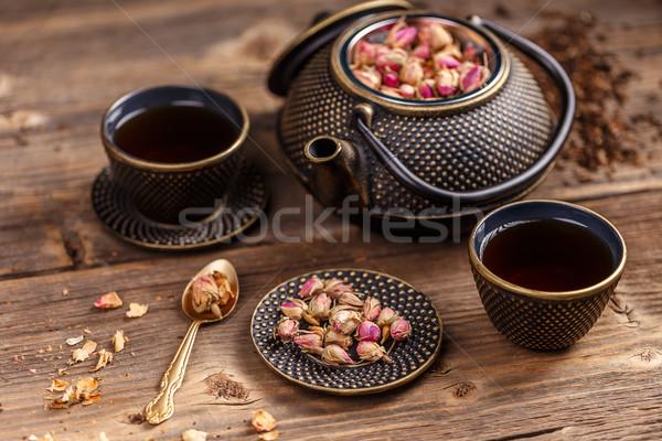 Tea pot and tea cups  Stock photo © grafvision