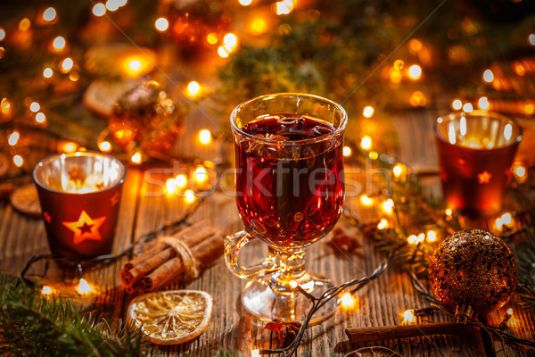 Christmas composition with mulled wine Stock photo © grafvision