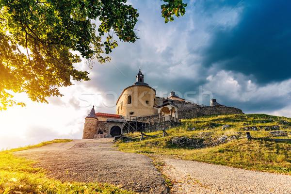 Castello Slovacchia sereno estate giorno costruzione Foto d'archivio © grafvision