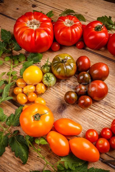 Colorful organic tomatoes  Stock photo © grafvision