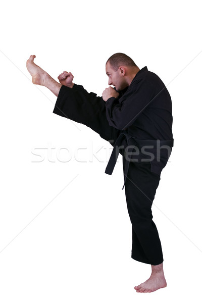 martial art side kick Stock photo © grafvision