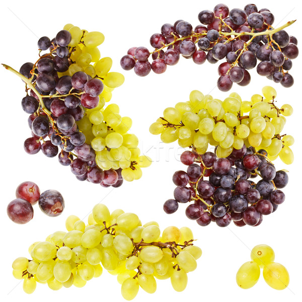 Collection of ripe fruit grape cluster Stock photo © grafvision