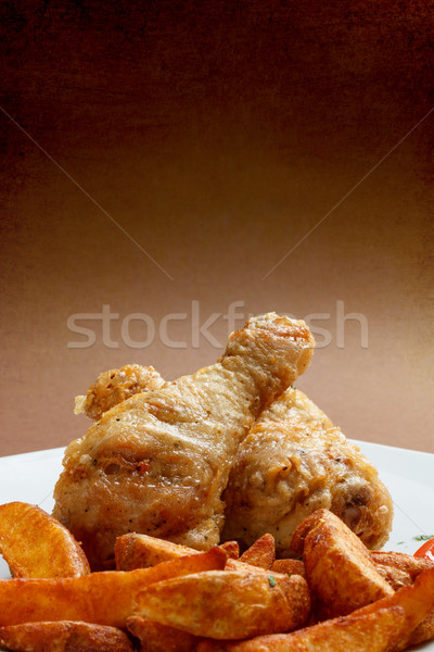 Roasted chicken drumstick Stock photo © grafvision