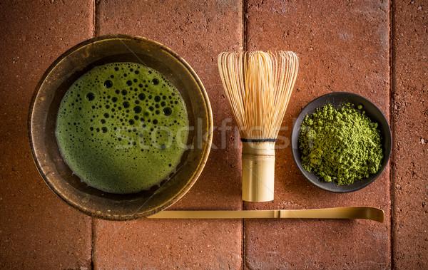 Japonés té ceremonia polvo verde Foto stock © grafvision