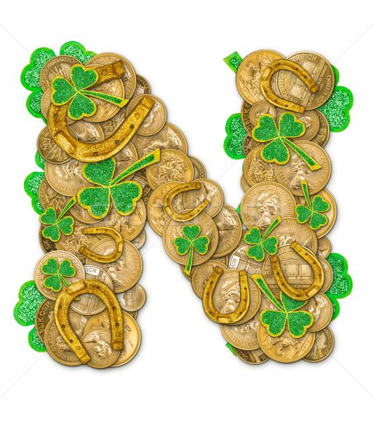 St. Patricks Day holiday letter N Stock photo © grafvision