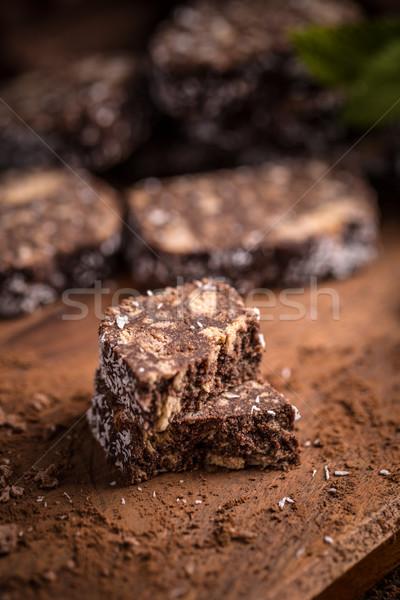 колбаса печенье Ломтики продовольствие еды Сток-фото © grafvision