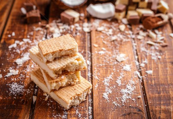 çikolata iki doldurma beyaz bo Stok fotoğraf © grafvision