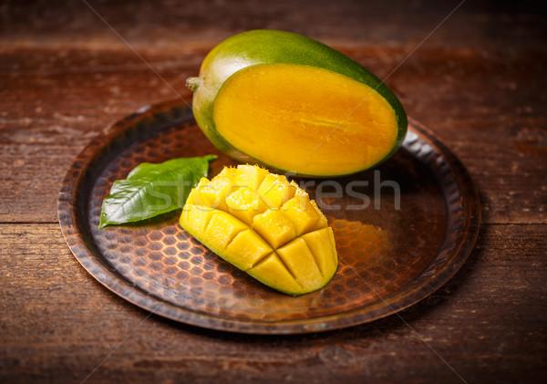 Vers mango vruchten organisch product rustiek Stockfoto © grafvision