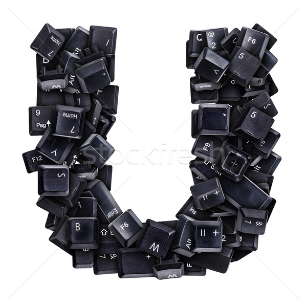 Letter U made of keyboard buttons Stock photo © grafvision