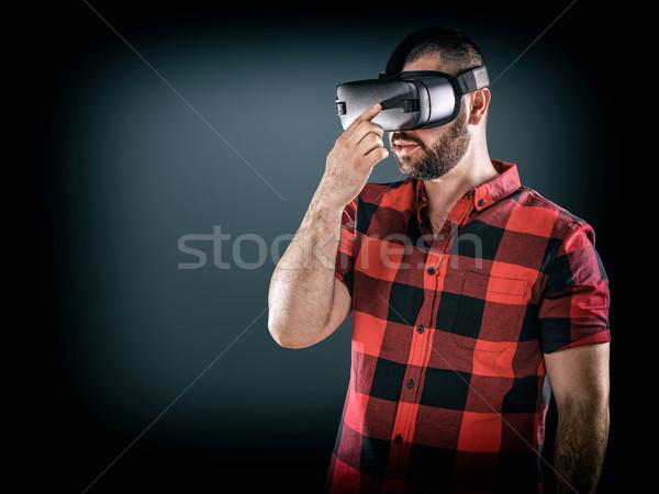 サイバースペース 人 男 着用 バーチャル 現実 ストックフォト © grafvision