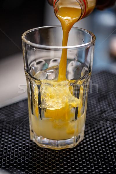 Stockfoto: Barman · drinken · shot · glas