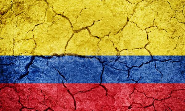 Köztársaság Colombia zászló száraz Föld föld Stock fotó © grafvision