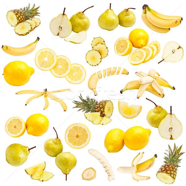 Amarelo comida coleção isolado branco jantar Foto stock © grafvision