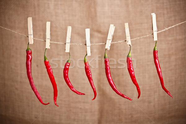 Kırmızı sıcak kadar ahşap dizayn Stok fotoğraf © grafvision