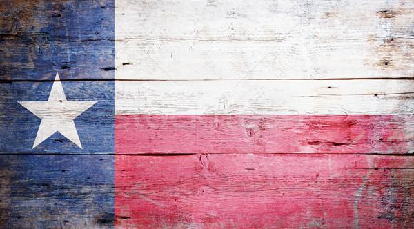 Bayrak Teksas boyalı ahşap duvar Stok fotoğraf © grafvision