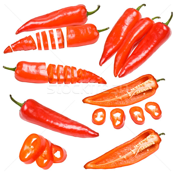 Collection of red peppers Stock photo © grafvision