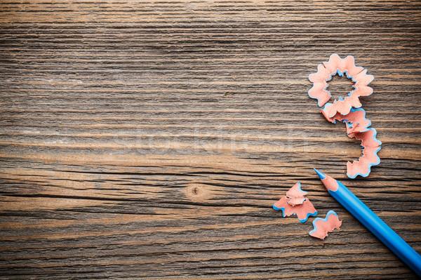 Pencil and shavings  Stock photo © grafvision