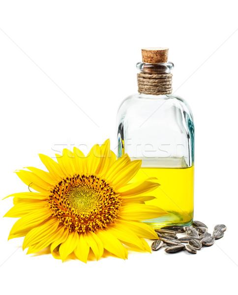 ひまわり油 花 種子 ガラス ヒマワリ ファーム ストックフォト © grafvision