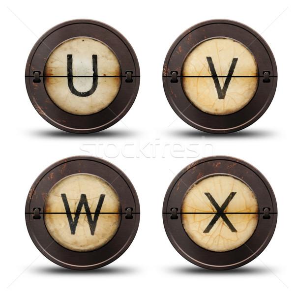 Maszyny do pisania litery vintage odwracalny metal internetowych Zdjęcia stock © grafvision