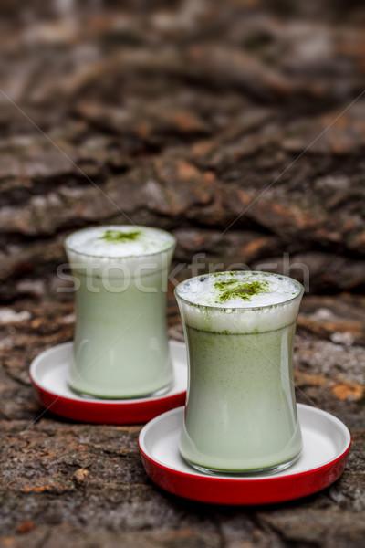 Green tea frappe Stock photo © grafvision