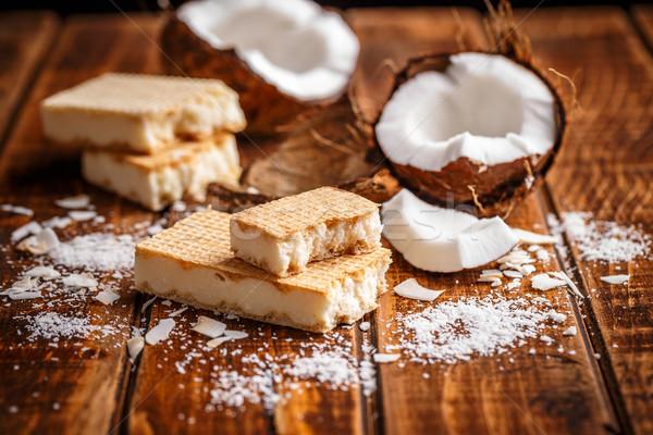 Beyaz ev yapımı çikolata hindistan cevizi gıda Stok fotoğraf © grafvision