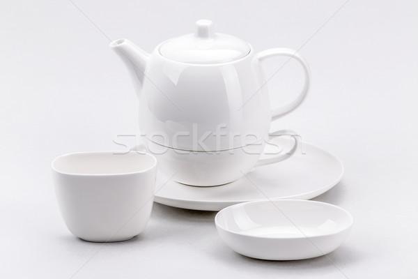 白 茶碗 コーヒー 茶 ストックフォト © grafvision