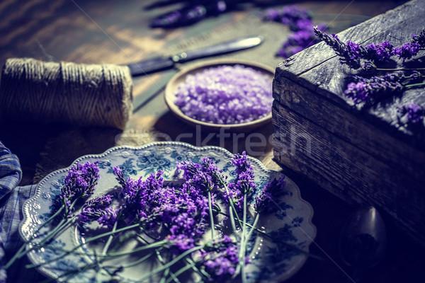 Salt herbal body scrub Stock photo © grafvision