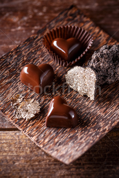 Heart shaped praline Stock photo © grafvision
