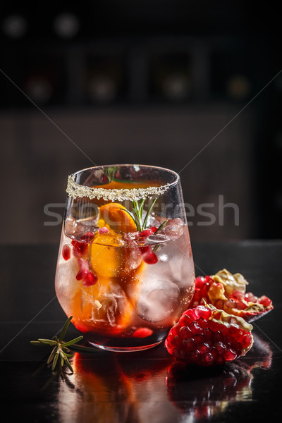 Fresh pomegranate drink  Stock photo © grafvision