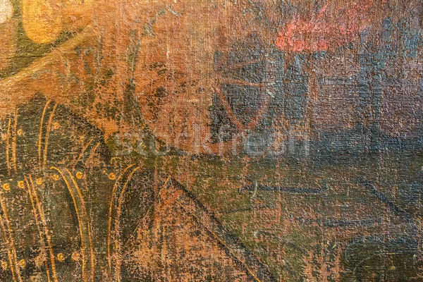 Yıpranmış boyalı deri doku eski malzeme Stok fotoğraf © grafvision