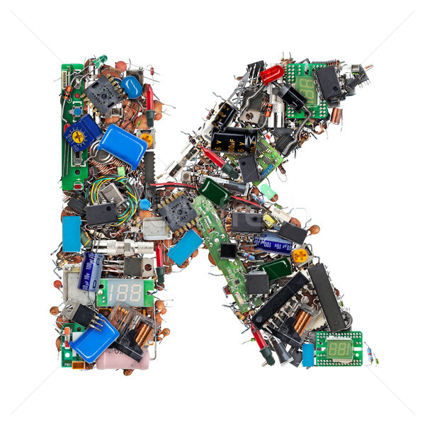 Letter K made of electronic components Stock photo © grafvision