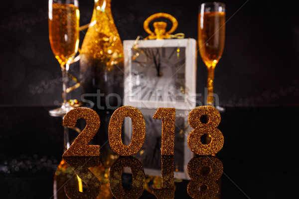 2018 New Year's Eve Stock photo © grafvision