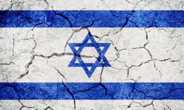 Israel bandeira secar terra terreno textura Foto stock © grafvision