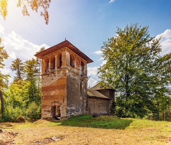 Starych hunter ruiny słoneczny lata dzień Zdjęcia stock © grafvision