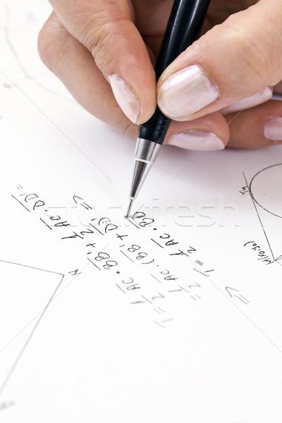 数学 グラフ 黒白 ストックフォト © grafvision