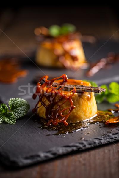 Karamel decoratie zwarte zoete eigengemaakt Stockfoto © grafvision