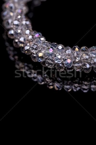 Bratara mic sticlă pietre spaţiu text Imagine de stoc © grafvision