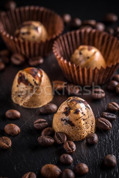 Foto stock: Chocolate · café · preto · doce · escuro · sobremesa